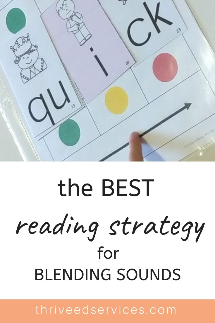 The Best Reading Strategy For Blending Sounds Reading Intervention Multisensory Reading Reading Strategies [ 1102 x 735 Pixel ]