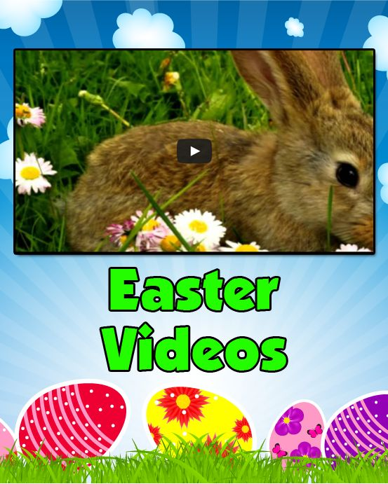 Easter Videos - Easter videos for kids. Learn about the origins of Easter. Celebrate Easter with your favorite childrens songs. Watch cute animals dressed up for Easter.