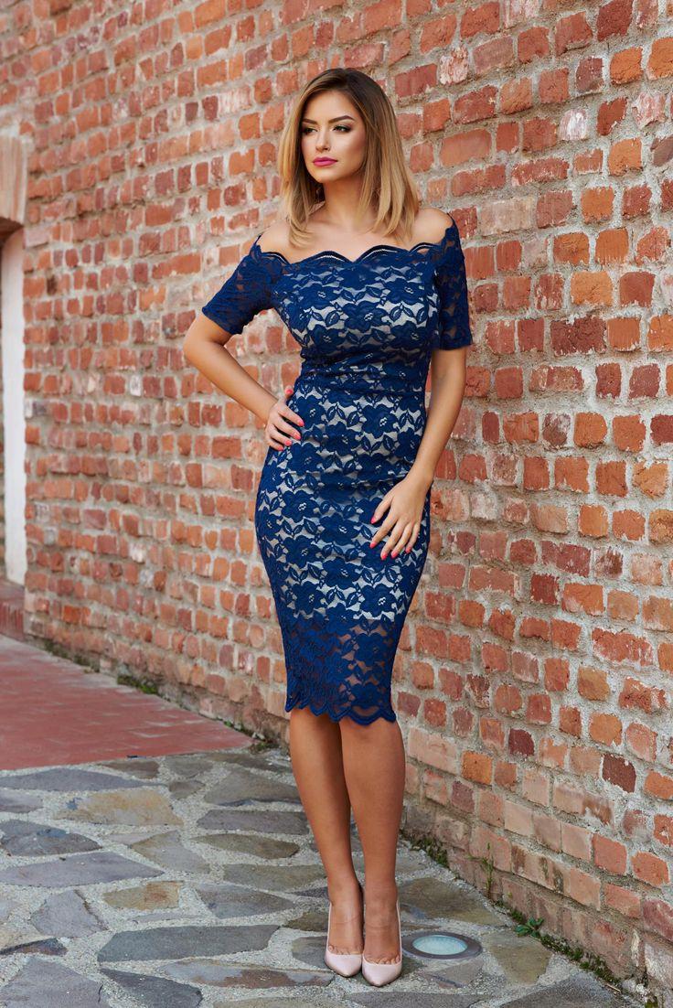 Rochie StarShinerS Glamorous Girl DarkBlue