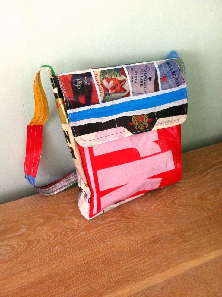 Fused plastic schoolbag
