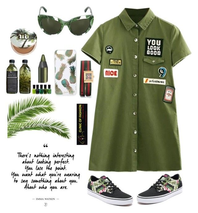 """Army look"" by clinicoffashion on Polyvore featuring Vans, Sonix, Dolce&Gabbana, Gucci, AMBRE, Zoya and Urban Decay"