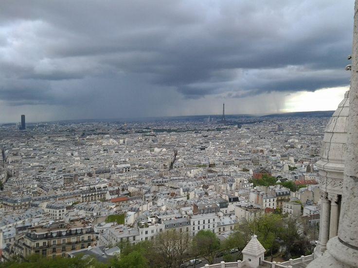 Vista de París desde la Cúpula de Le Sacre Coeur