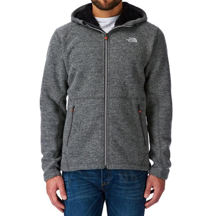 The North Face Zermatt Full Zip Sweatshirt de fecho com forro em pele e capuz - Heather Grey