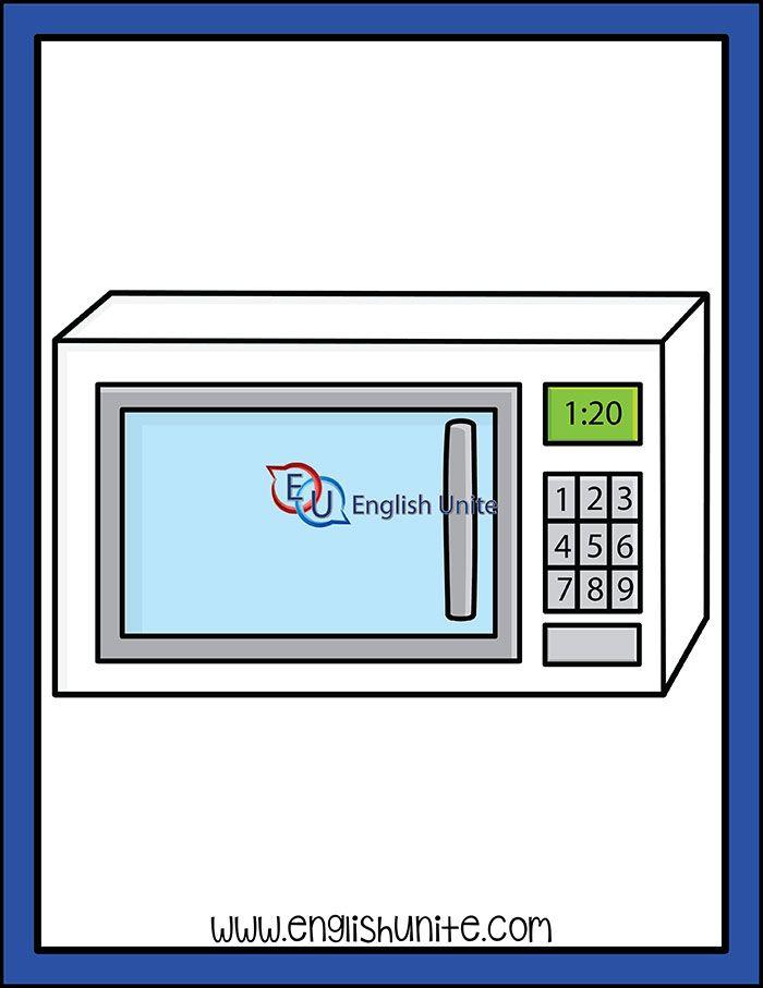 House Microwave English Unite Clip Art Teacher Clipart White Image
