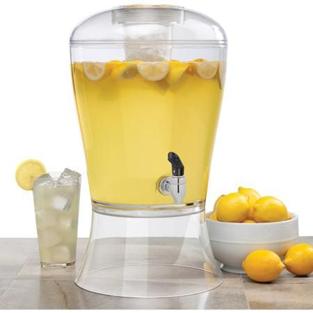 Creative Bath 3-Gallon Beverage Dispenser with Ice Core - $20 at Wal-Mart - would be good for water