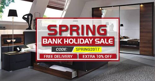 Special Bank Holiday Furniture Sale Get up to 75% discount and free delivery to all over the England & wales on our top brands bedroom furniture.