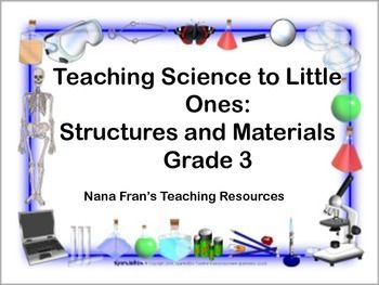 This unit contains all the learning outcomes aligned with the pan-Canadian Science curriculum for Grade 3 Science. There are nine lessons with full lesson plans, experiments and activities for students. A partial look at a sample lesson plan that is part of this unit is:Lesson Two: Structures in NatureSpecific Outcomes:1.