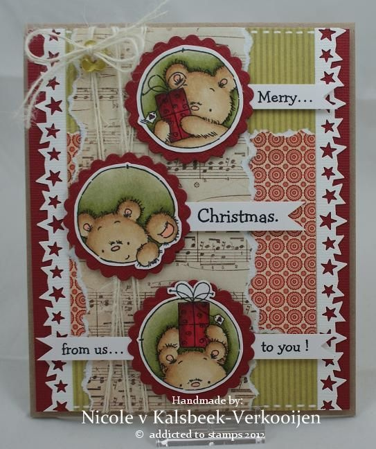 Nicole's stamp addiction: Merry Christmas... From us to you ! (Lili of the Valley stamp)