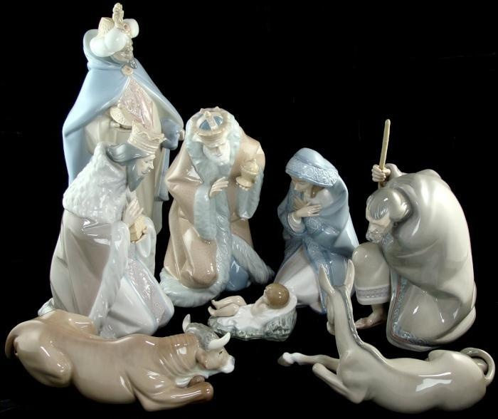 Lladro Nativity Set 5476 5477 5478 5479 5480 5481 5482 5483 Jesus Mary Joseph | eBay