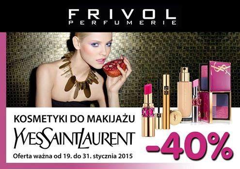 Na dzień dobry mamy dla Was promocję we Frivol Outlet Sky Tower  Rabat do 40% na kosmetyki marki Yves Sain Laurent. Zapraszamy do perfumerii!  https://www.facebook.com/FrivolePrestige