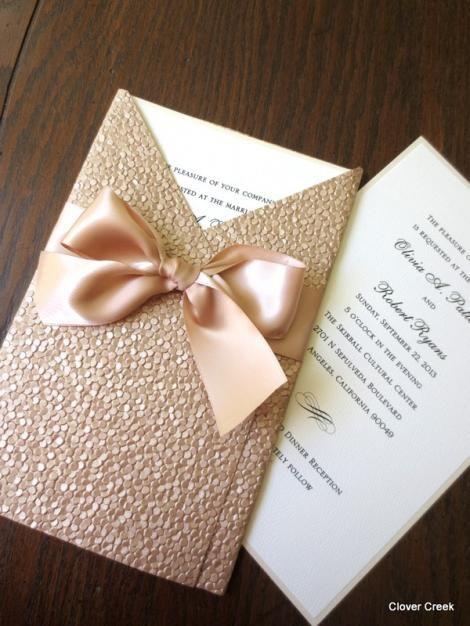 Sencilla invitación de boda que puedes hacer tu mismo.