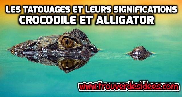 Les tatouages et leurs significations : crocodile et alligator #tatouage #crocodile #alligator #peau