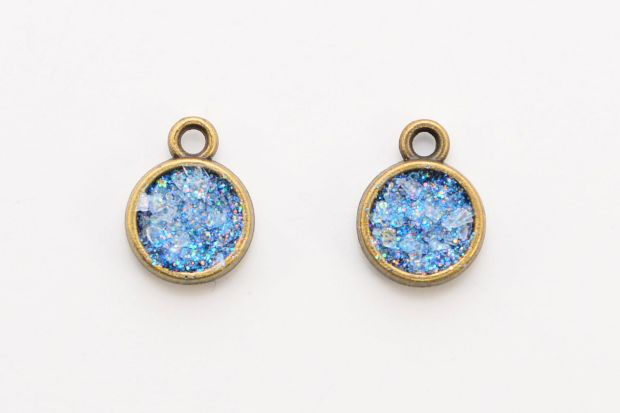 Make a Pair of Sparkling Glitter Druzy Earrings   Jewelry ...