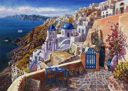 """View Of Santorini"" by Sung Sam Park"