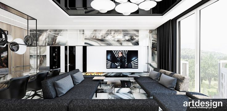 WELCOME TO THE JUNGLE | I | Wnętrza apartamentu | Projekt salonu
