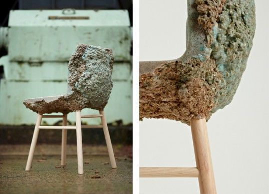 Well Proven Chair, Marjan Van Aubel, Jamie Shaw, recyclable materials, recycled furniture, wood waste, green furniture, green design, eco-fr...