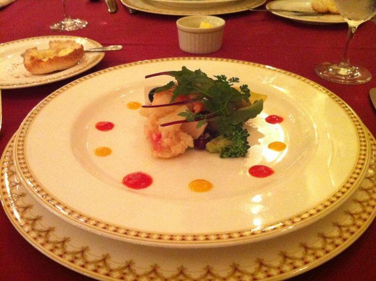 Prawn and scallops at Magellan's, Tokyo Disneysea. Magellan's is one of the fanciest restaurants at TDR.