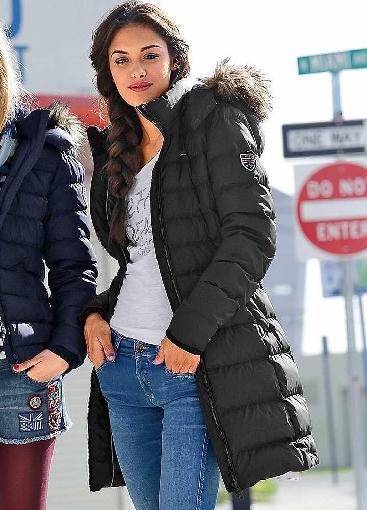 Hilfiger Denim 'Maria' Quilted Down Coat