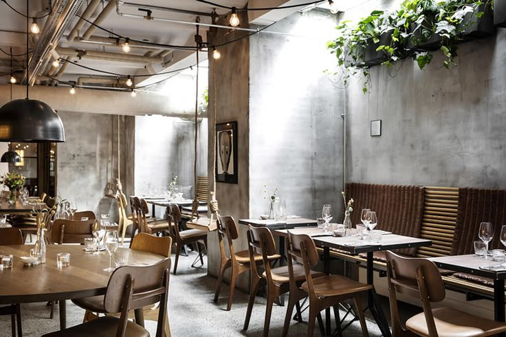 Experience is centre-stage at Copenhagen's rustic recycled  of a restaurant, Planters and plants!!