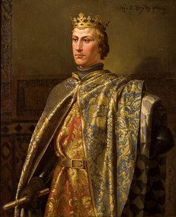 King Peter of Castile and Leon, Spain 1350 - 1366.  His daughter was Isabella, Duchess of York, wife of Edmund Plantagenet