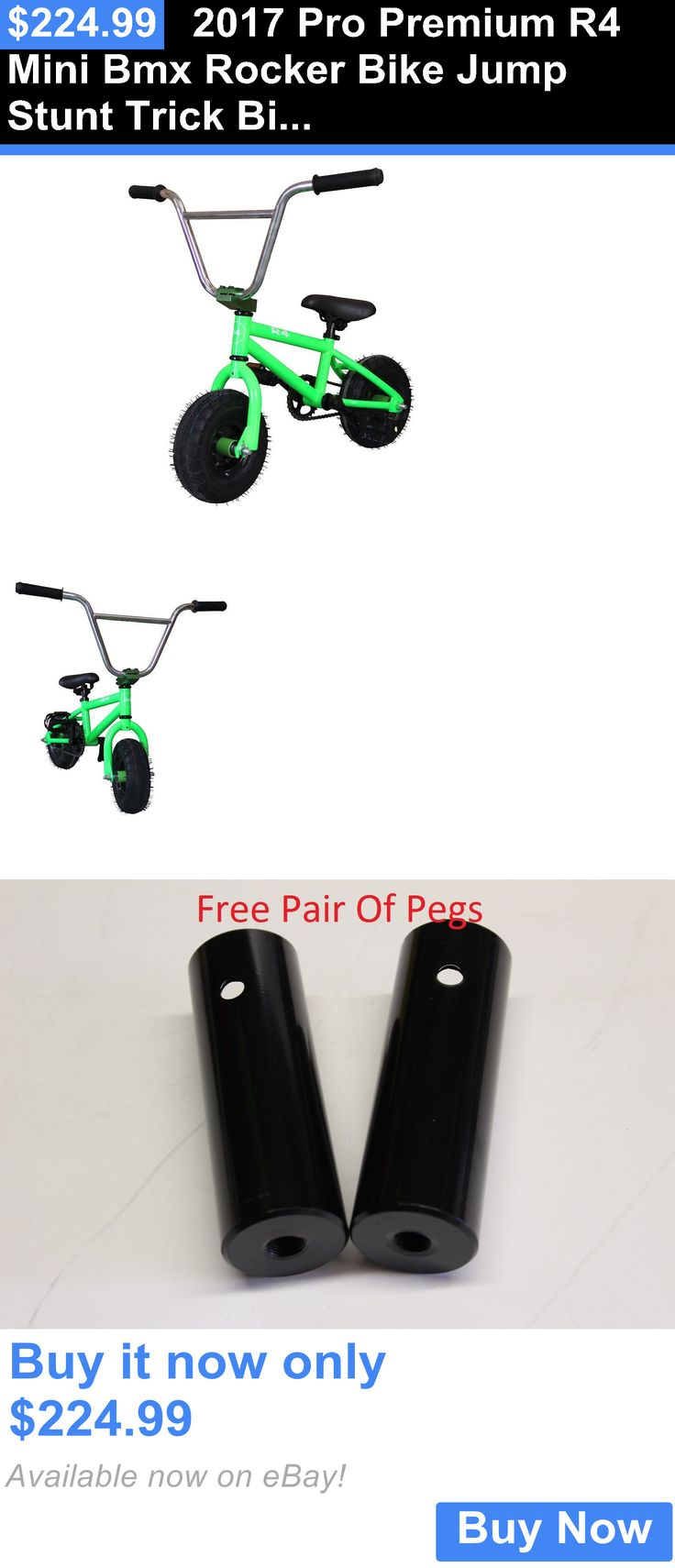 bicycles: 2017 Pro Premium R4 Mini Bmx Rocker Bike Jump Stunt Trick Bicycle, Monster Green BUY IT NOW ONLY: $224.99