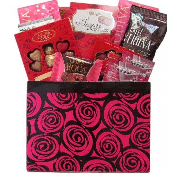 Pink Roses Gift Basket
