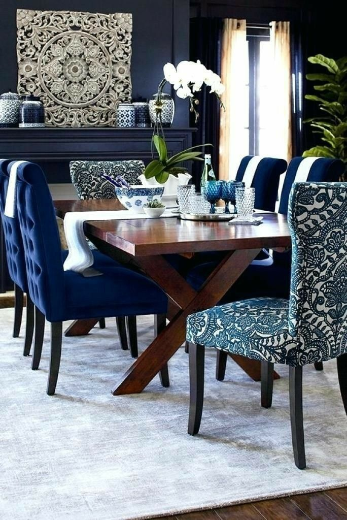 Pin By Szilvia Klein On Lakberendezes Dining Room Blue Dining