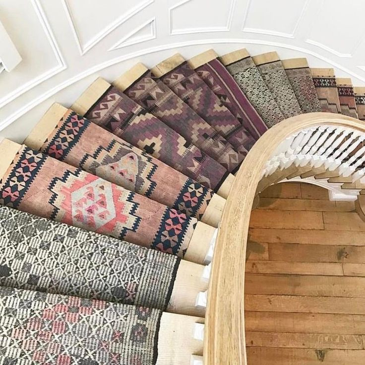 I want this!!!!!! I love the idea of ever step having a different carpet, color and pattern. Ugh it's amazing!