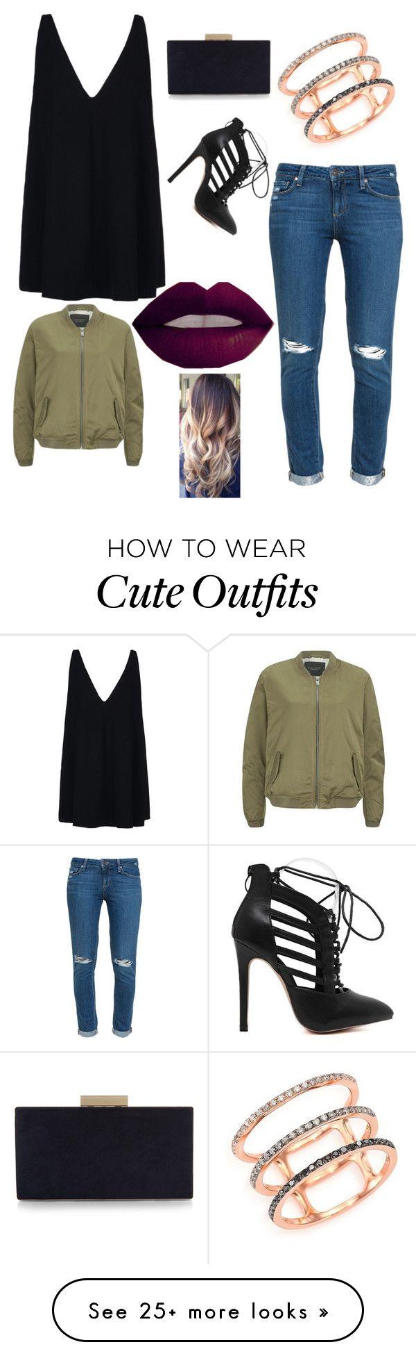 """cute outfits"" by cupackesandunicorns on Polyvore featuring Paige Denim, STELLA McCARTNEY, EF Collection, Monsoon, Maison Scotch, women's clothing, women's fashion, women, female and woman"