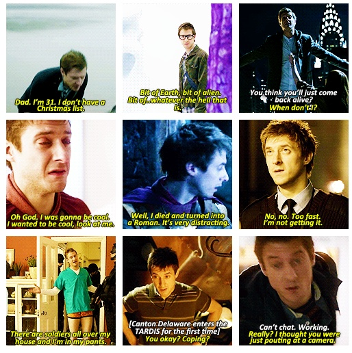 If I had to choose between The Doctor and Rory to spend the rest of my life with, I'd choose Rory