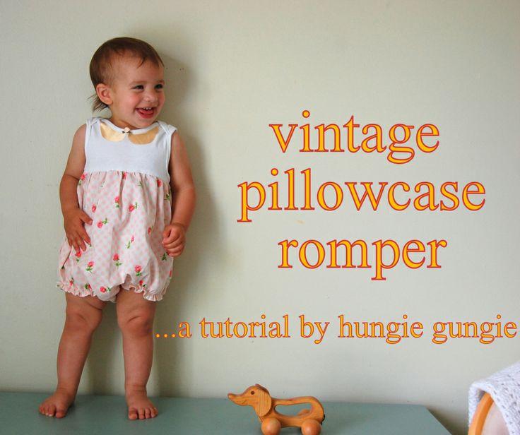 Vintage Pillowcase RomperTutorial