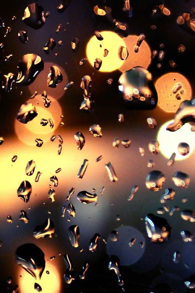 Rain Drops On The Window Photography #iPhone #4s #Wallpaper