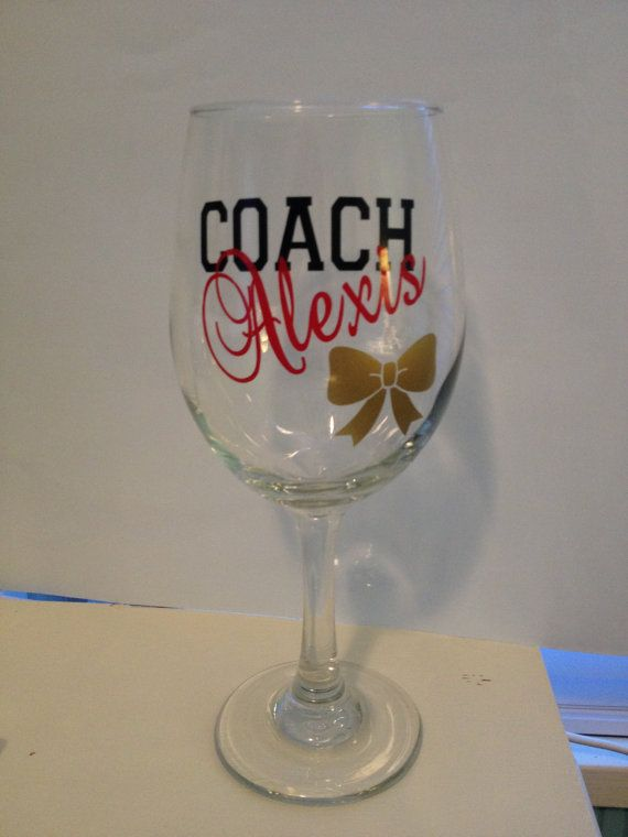 Cheerleading Coach Wine Glass Cheerleading by WoodenSpoonCrafts