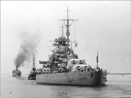 WWII German Battleships...Bismarck was the first of two ...