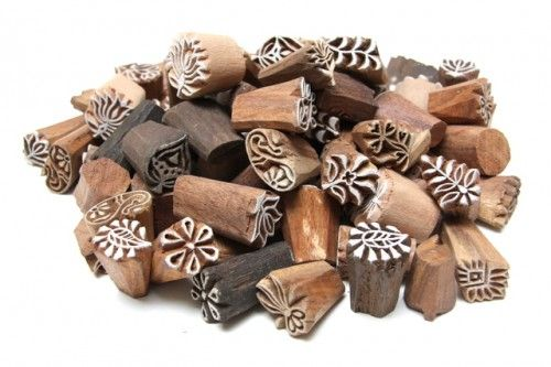 Indian Wedding Favors  - Wooden Indian Block Mehndi Henna Stamps