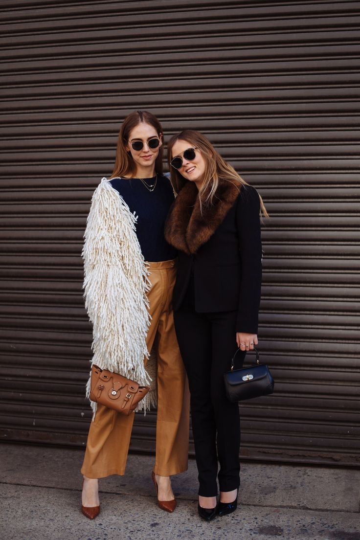 Chiara and Valentina Ferragni, New York Fashion Week 2016 #NYFW #ChiaraFerragni