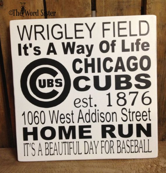 Chicago Cubs Fans...CUBS Sport Subway Word Art by The Word Sister