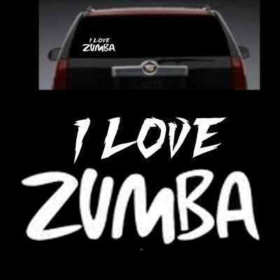 I love zumba decal window transfer sticker free shipping
