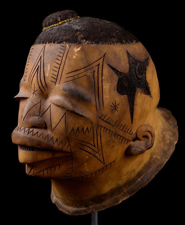 'lipiko mask makonde mozambique circa early th