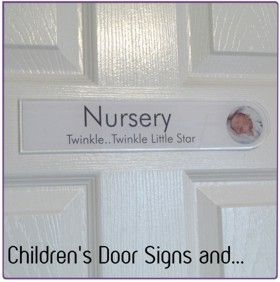 The Children' s Door Signs are 300mm x 60mm, 30cm x 6cm, 11.8 x 2.3 in size, 3mm thick 'Glass Acrylic' and includes double sided adhesive pads. £21.00
