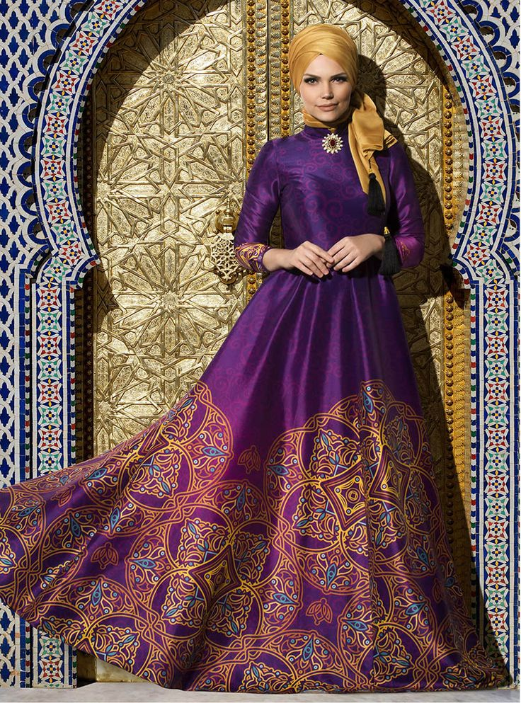 Silkway Abiye - Mor - Muslima Wear ::