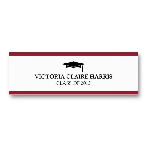 20 best Name Cards For Graduation Announcements images on Pinterest
