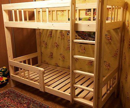 Кровати одноярусные, двухъярусные, чердачки для детей и подростков. Из дерева, сибирской сосны. Дополнительные системы для хранения и игры.