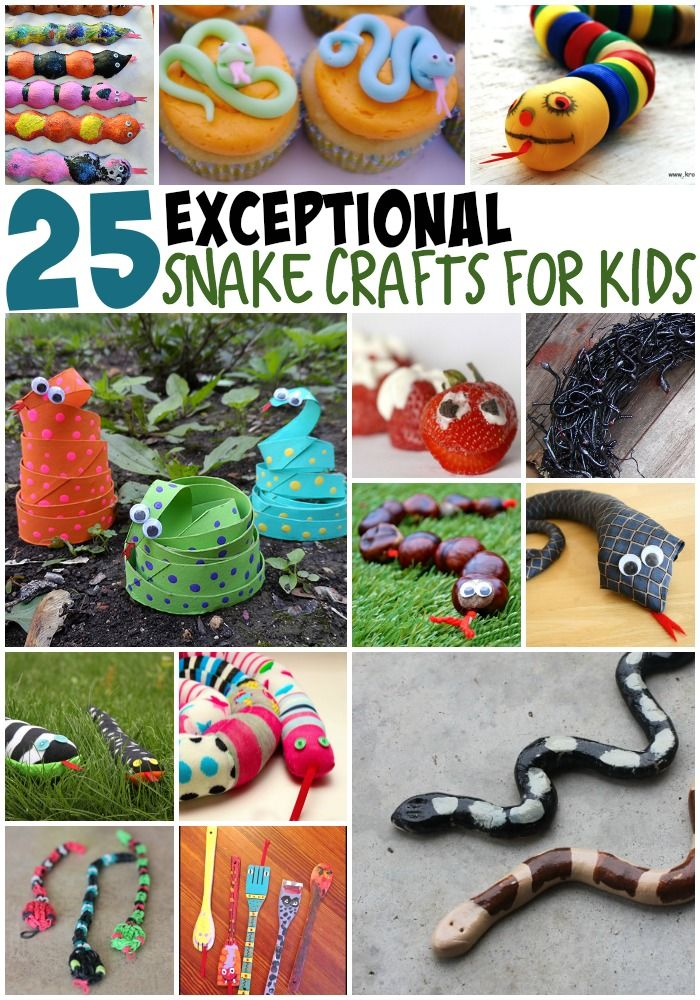 In the big long of list of things that is never ever going to happen, a snake living in my house is number one. So, here are 25 snake crafts instead.