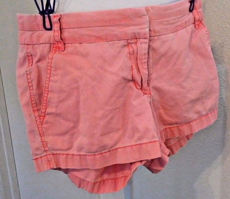 J Crew Women's Shorts Size 4 Broken In Chinos Coral Spring Date Vacation #JCrew #CasualShorts