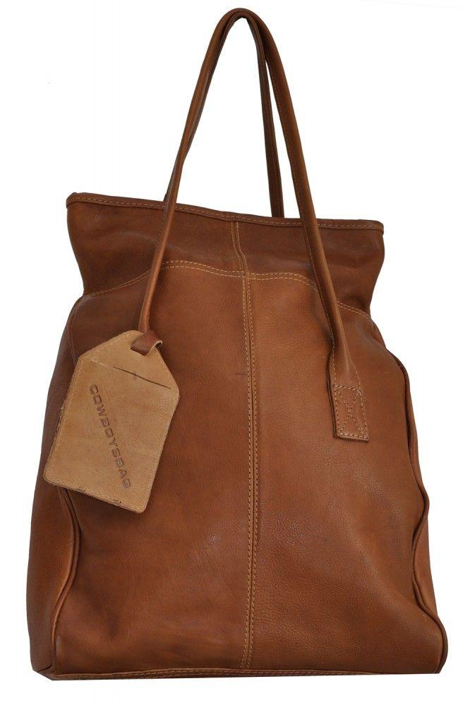 Cowboysbag Bag Wakefield 1290 Henkeltasche Tote aus Leder, Shopper, Handtasche, Camel / Ivory, 31x44x13 cm (B x H x T) Unsere Marken Cowboysbelt