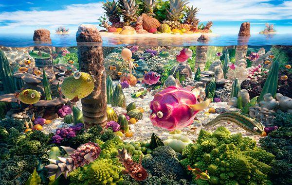 Carl Warner's Stunning Food Landscapes l foodart