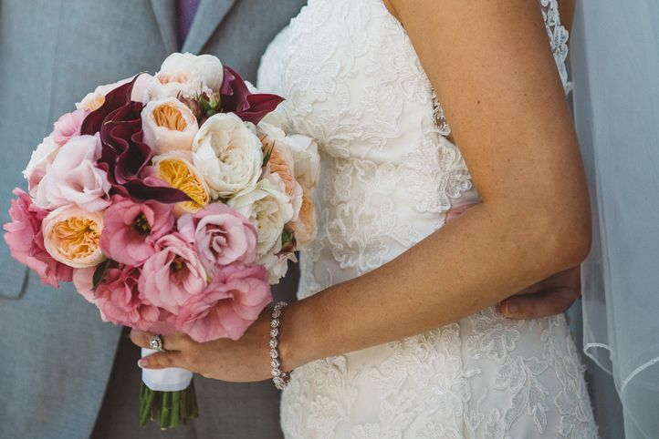 LETTUCE & CO - STYLE. EAT. PLAY 'jennifer + peter' - winery wedding'. wedding bride bouquet. modern vintage lace.    pastels, rose gold and grey adorned the Balgownie Estate Winery reception spaces.