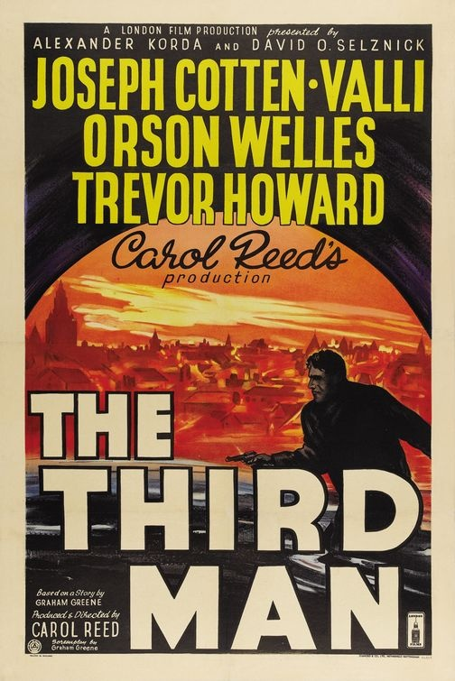 """The Third Man - Carol Reed 1949 - VH07123 - Palme d'Or Cannes Film Festival -- """"Pulp novelist Holly Martins travels to postwar Vienna, only to find himself investigating the mysterious death of an old friend, black-market opportunist Harry Lime."""""""
