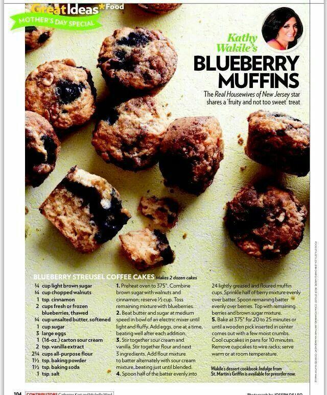 Kathy Wakile blueberry muffins